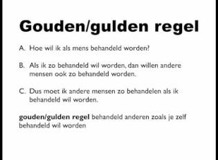 de gouden regel
