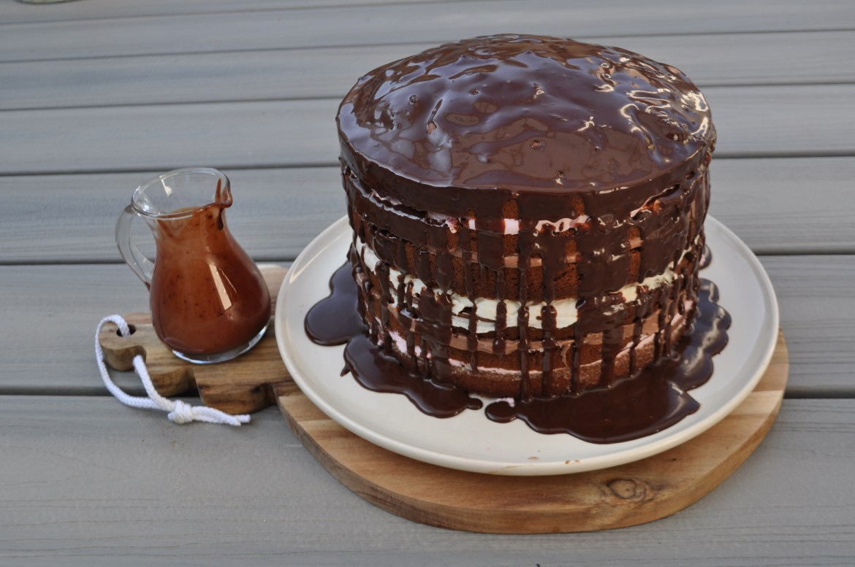 Frambozenlaagjes taart
