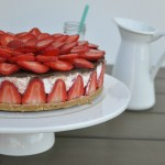 Aardbeienkwarktaart met chocolade