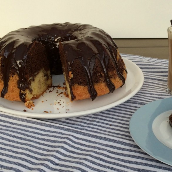 Marmercake met chocoladeganache