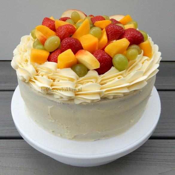 Taart met héél veel vers fruit