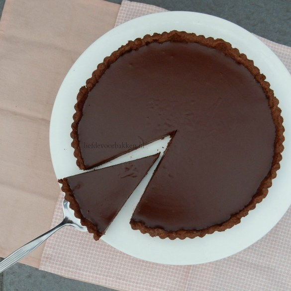 "Chocolade taartje ""Tarte au chocolat"""