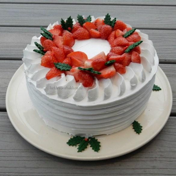 Wit kerst taartje