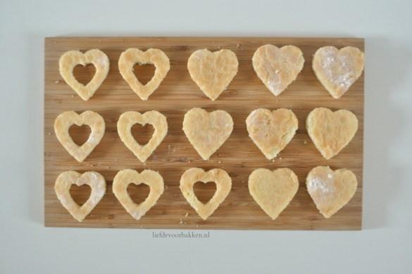 Valentijncakejes met bosvruchten