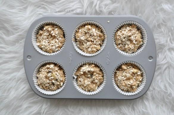 Appel kaneel muffins met havermout