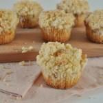 Appel kruimel cupcakes