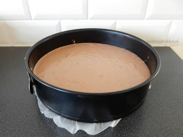 Nobake taartje met Nutella, Griekse yoghurt en bosvruchten