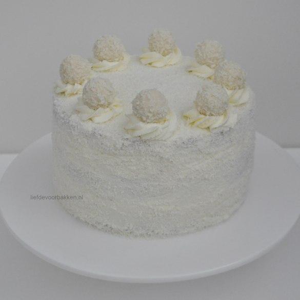 Winter wonderland taart met kokos