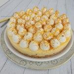 No bake vanille taartje met peer