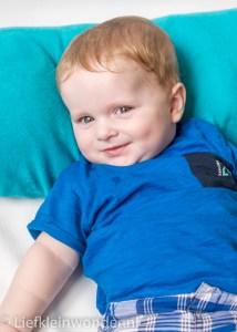 Mister blue mini fotoshoot baby blauw jayden 6 maanden