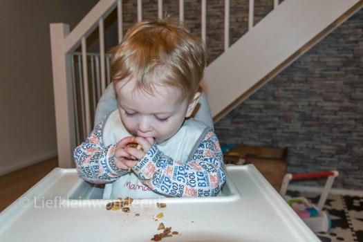 11 maanden en 1 week oud, Pizza eten