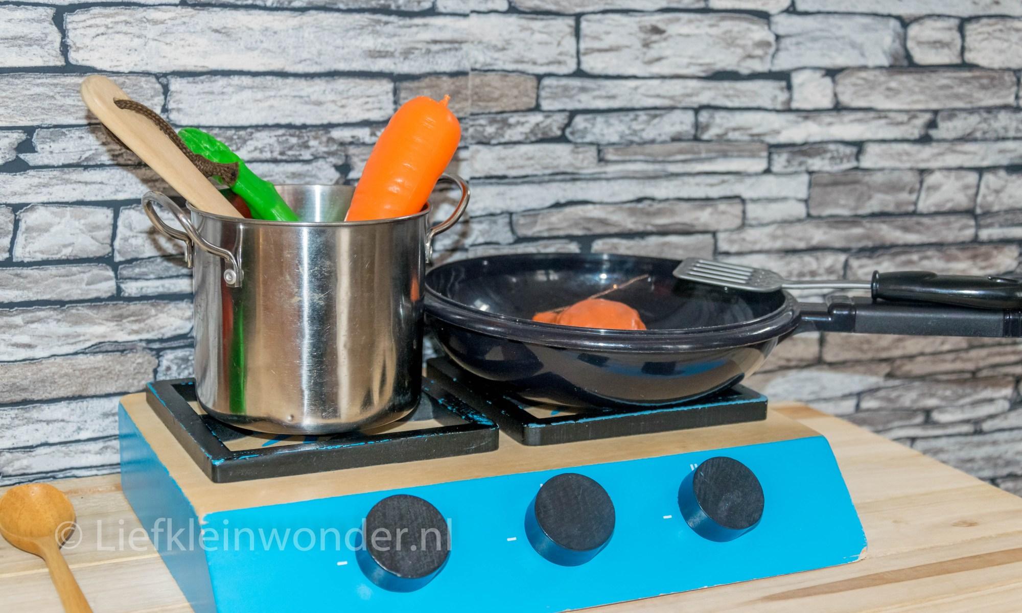 Speelgoed fruit groente houten speelgoed fornuis