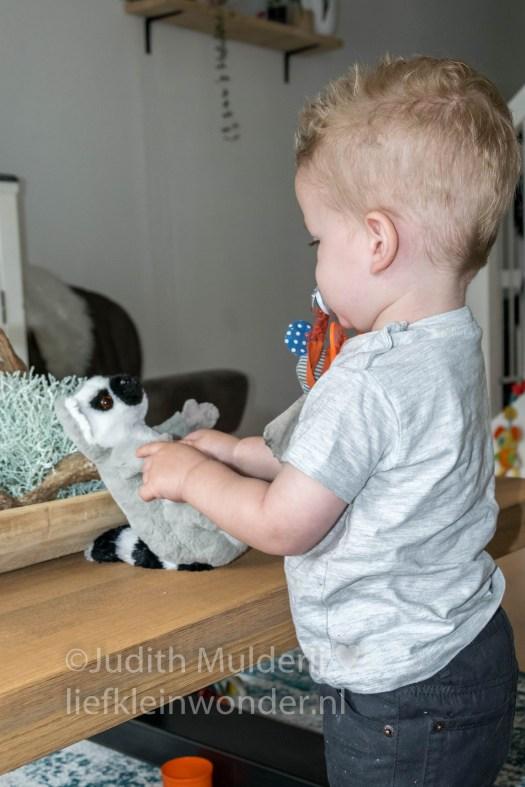 Jayden 18 maande en 2 weken oud peuter dreumes - knuffels knuffelen
