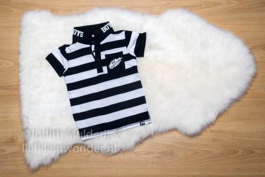 Mini shoplog babykleding z8 hema en piece of may - zwart wit jongens kleding stoer