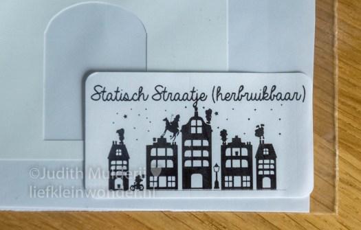 Sinterklaas raamsticker piece of may sin raam straatje statisch straatje