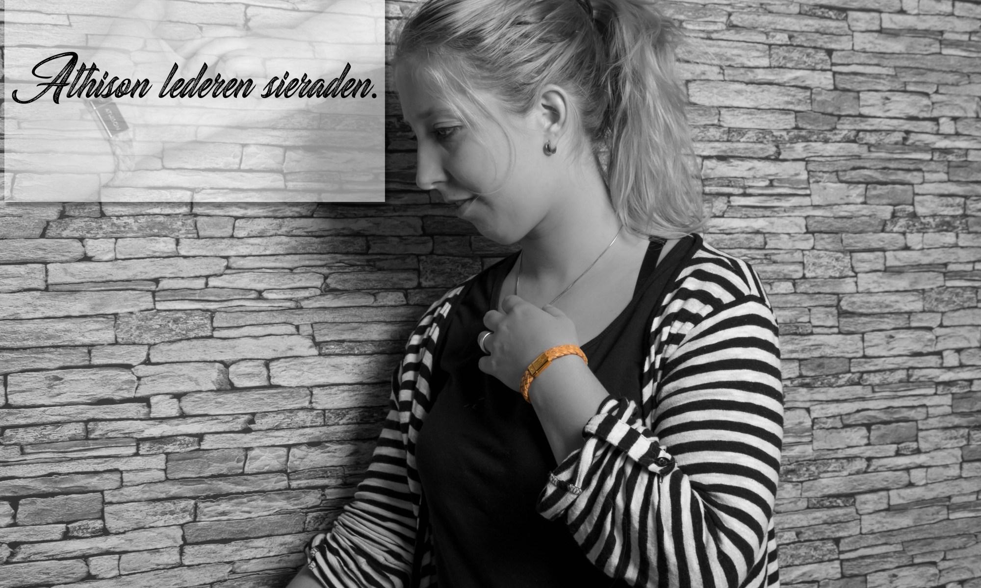 Athison lederen sieraden Sampleo goud leer armband mamablog review