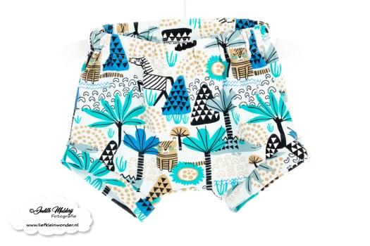 Brandrep babykleding baby zomerkleding review hip by (b)engel mama blog www.liefkleinwonder.nl shoplog jongen dieren blauw short bloomer korte broek shirt