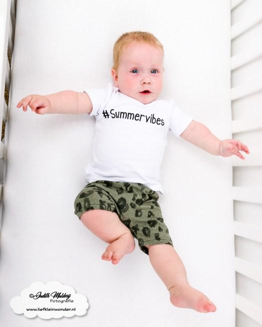 Zomer shorts R rebels kids clothing baby kleding broekje review brandrep foto's mama blog www.liefkleinwonder.nl panter print khaki