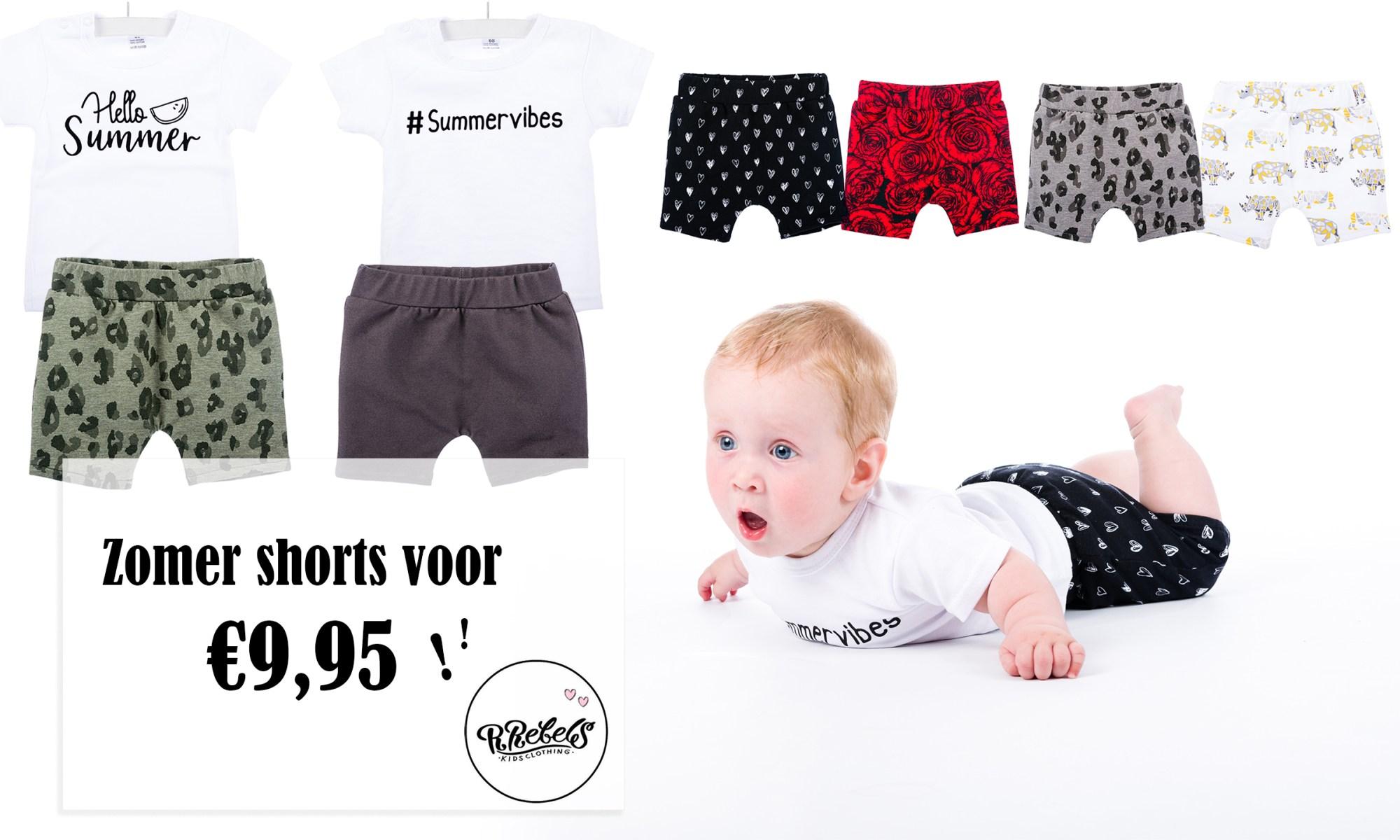 Zomer shorts R rebels kids clothing baby kleding broekje review brandrep foto's mama blog www.liefkleinwonder.nl rozen roses rood panter hartjes monochorme rozen