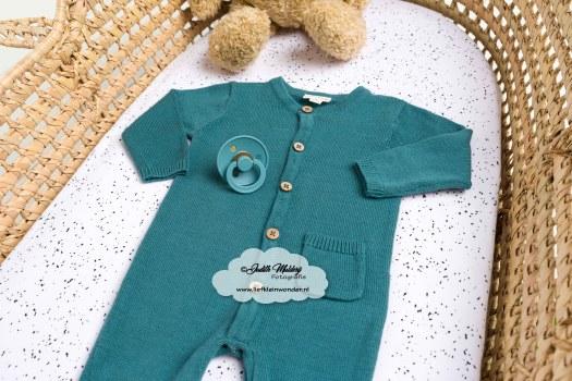 Boxpakje gebreid Prenatal petrol newborn aankopen shoplog zwanger