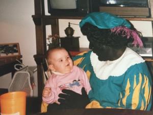 Eerste ontmoeting met zwarte piet