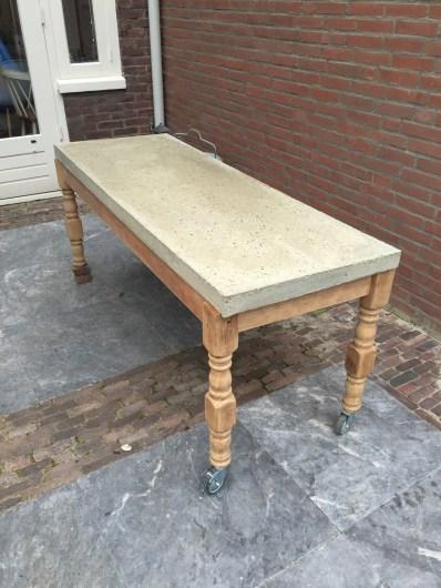betonnen tafel diy