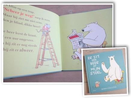 Er zit een beer op mijn stoel prentenboek
