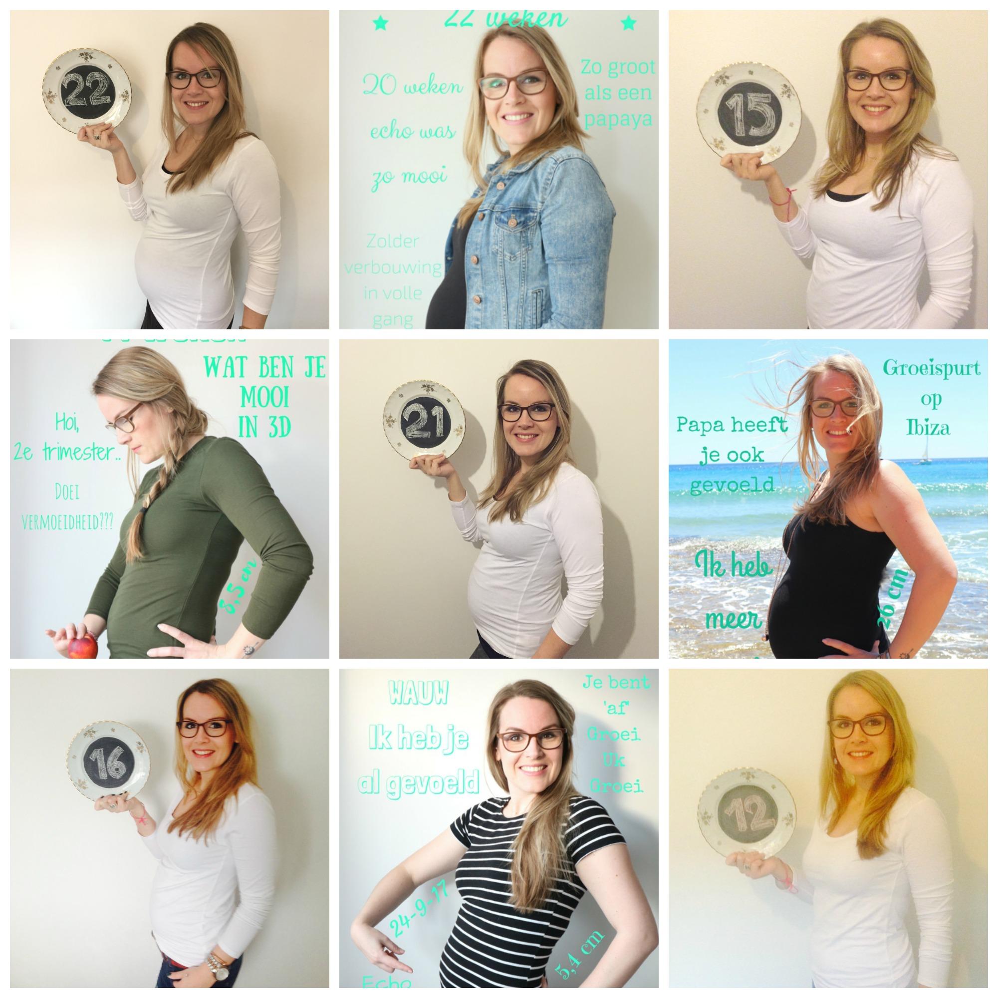Zwangere buik per week