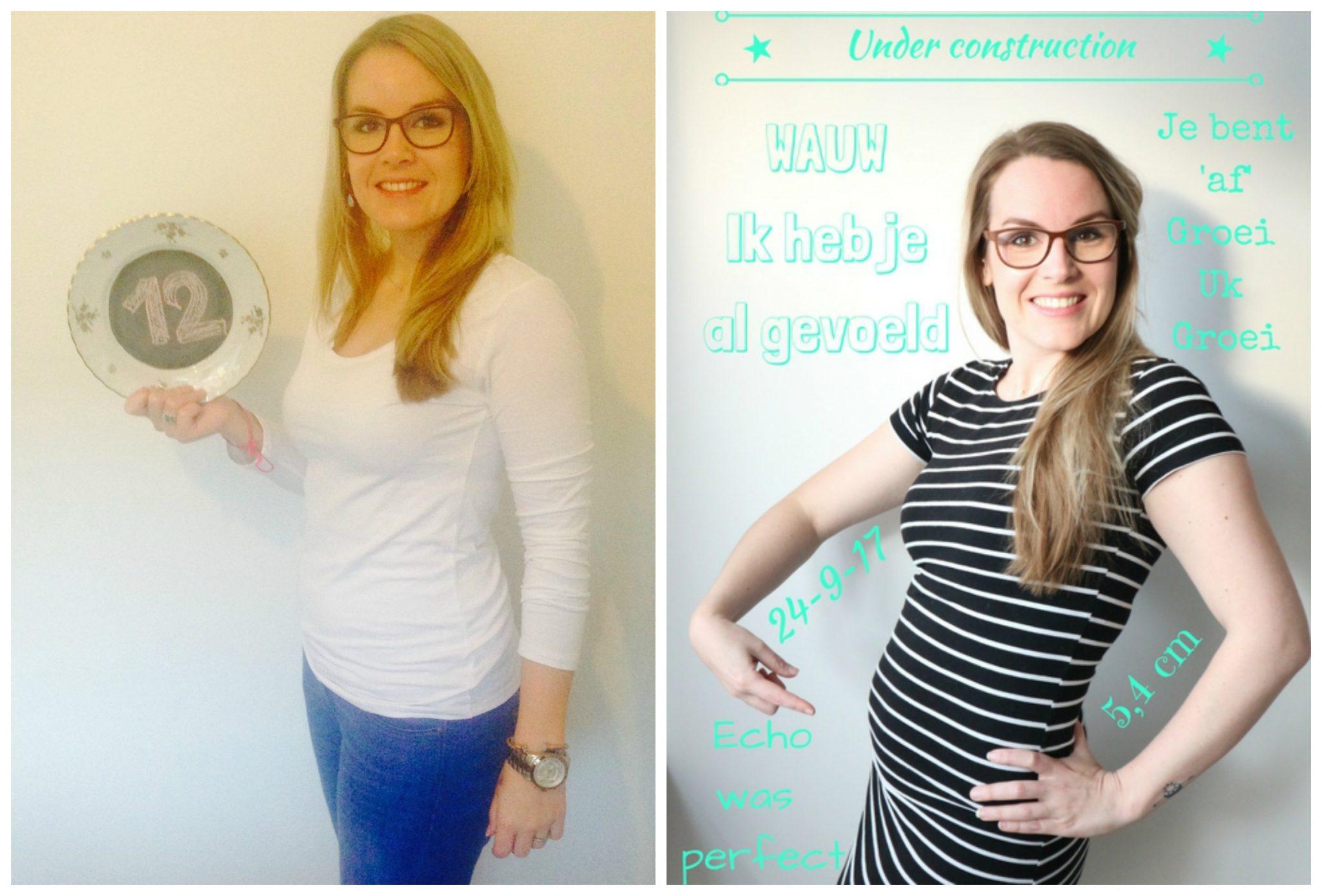 Verrassend Mijn zwangere buik vergeleken met de 1e zwangerschap....week 12 OO-29