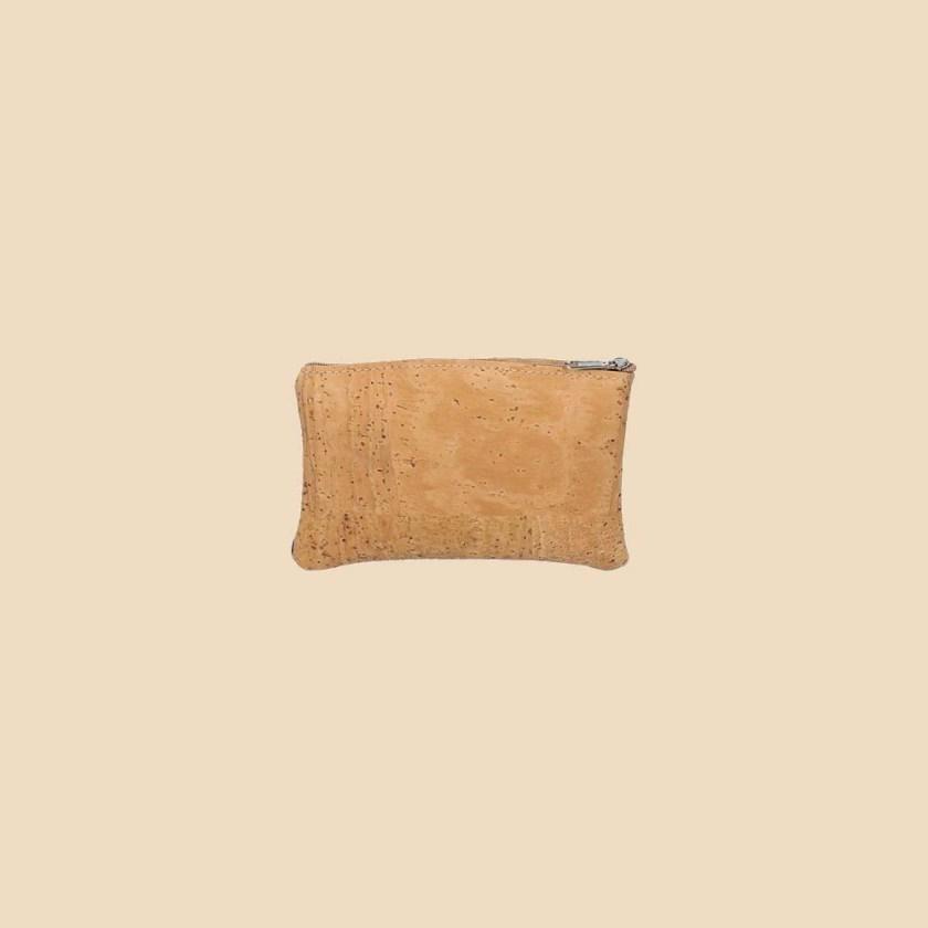 Portefeuille en liège modèle Ilona vue dos couleur orange naturel marron