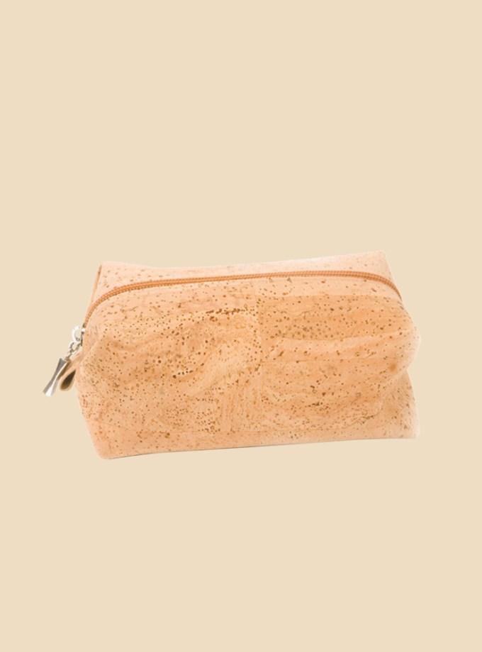 Trousse de toilette Liège Évasion pan liège naturel vue de face