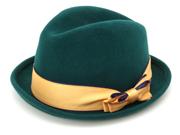 ハンサムハット,中折れハット,帽子,【グローブ】配色リボン中折れハット