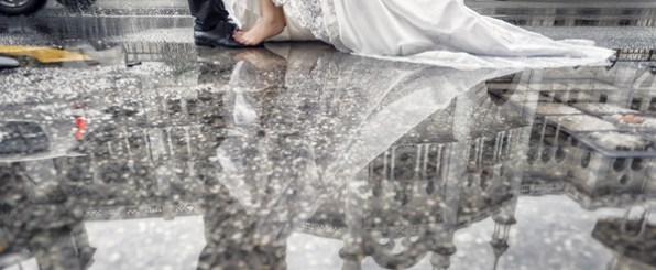 雨の結婚式は縁起がいい?演出方法や幸せなジンクス
