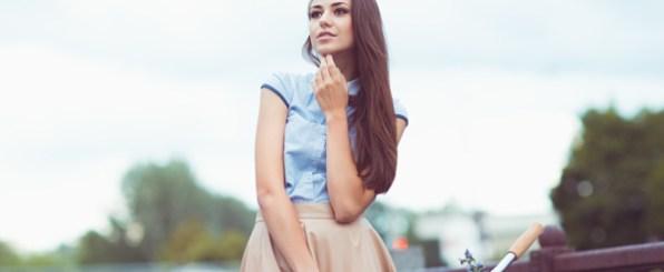 美脚効果もある♪ミモレ丈スカートでクラシカル美人になろう