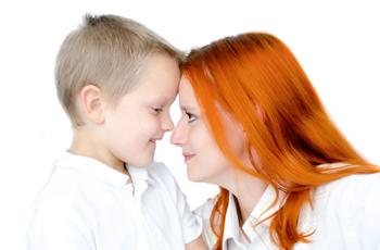 母親と少年