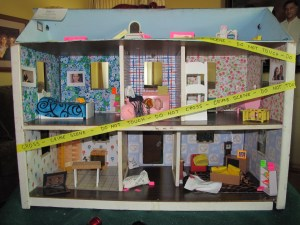 Doll house murder scene