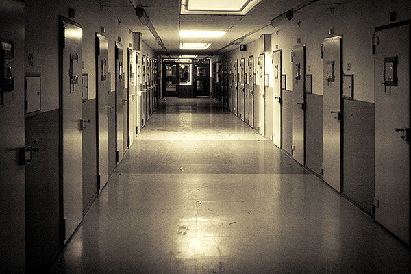 Oude gevangenis gang