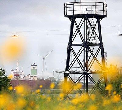 Het oude lage licht oftewel de kleine vuurtoren op Hoek van Holland