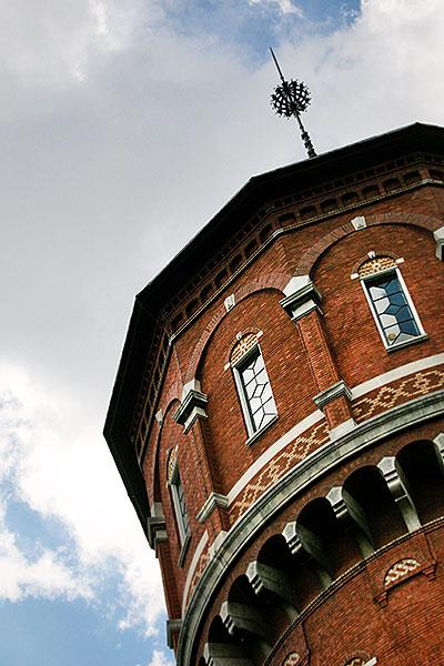Close up van de watertoren in Breda