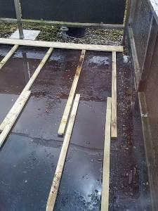 Terrasvloer in aanbouw