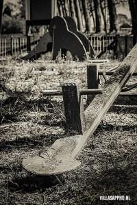 Melancholisch afgesloten speeltuin