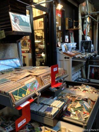Vintage photo shop at the market