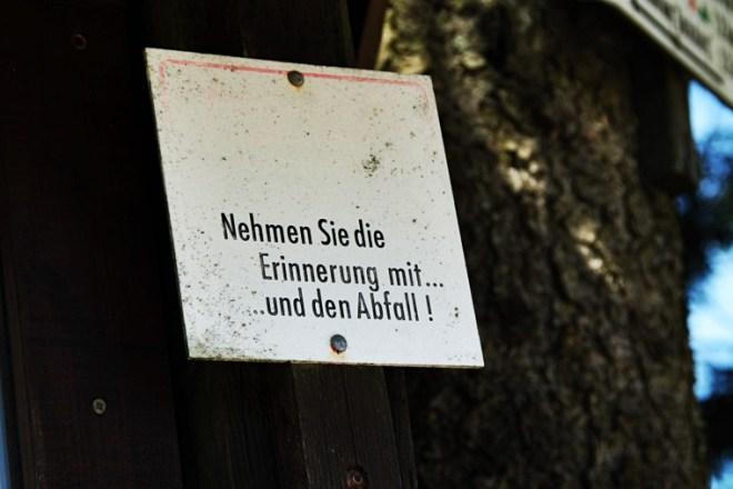 Schild am ErlebnisBocksberg Hahnenklee