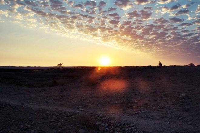 Sonnenuntergang am Sesriem Canyon in Namibia