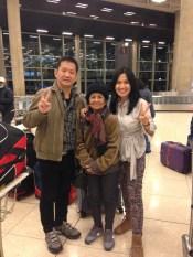 with oma Dorkas and Pak Djoni our tour guide @Abu Dhabi airport