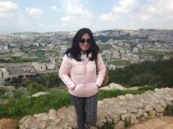 Nazareth town on the backround