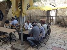 people in Jerusalem having a brunch