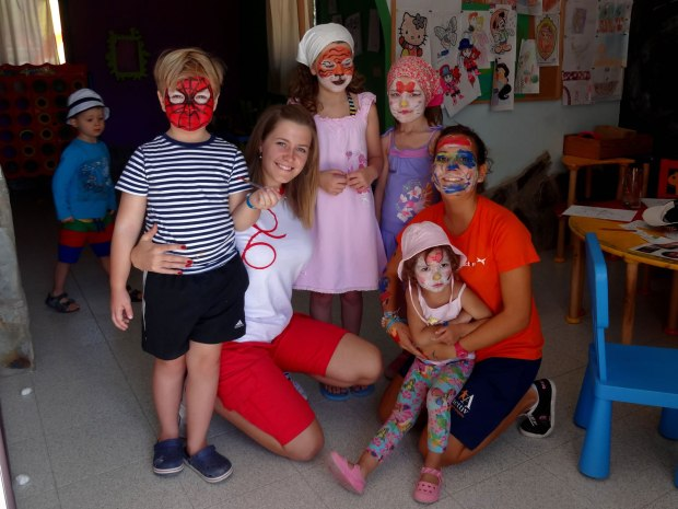 Gran Kanarija. Super Hero day, face painting