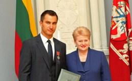 Sportininkui D. Zubrui – valstybės apdovanojimas