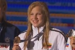 Prezidentė pasveikino plaukikę Rūtą Meilutytę iškovojus pasaulio čempionės titulą